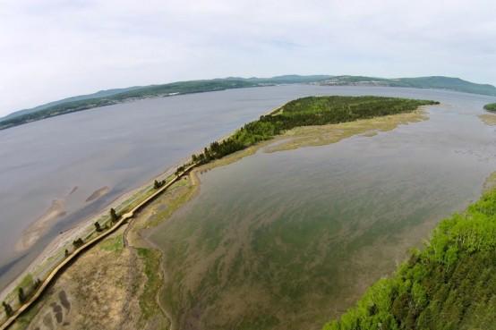 Projet lauréat du concours de la presqu'île de Penouille, Gaspésie avec Atelier Barda.