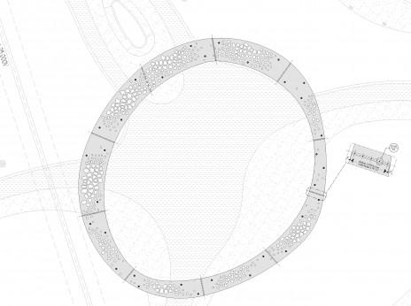 Conception paramétrique d'une pergola en acier pour la ville de Terrebonne. Parametric design of a steel plate for a pergola.