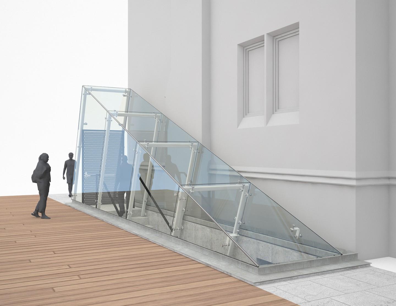 le livart dicule de verre structurel lat ral. Black Bedroom Furniture Sets. Home Design Ideas