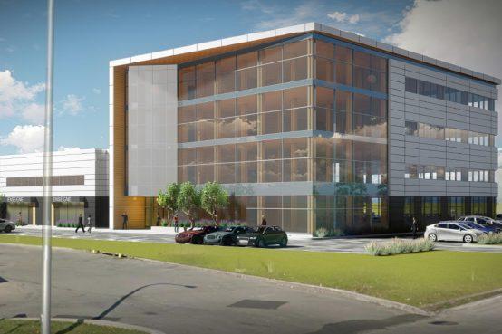 Projet Code 440 : bureaux en bois massif et espaces industriels et commerciaux.