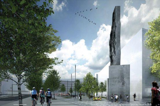 Patrick Bernatchez oeuvre pour le nouveau campus MIL de l'Université de Montréal. New public art for the University of Montreal MIL campus.